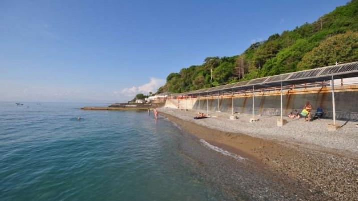 собственный пляж санатория