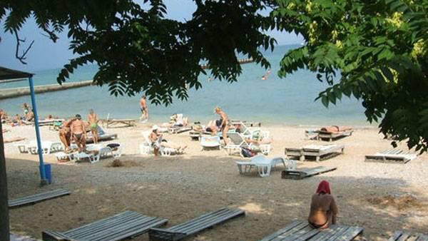 пляж санатория